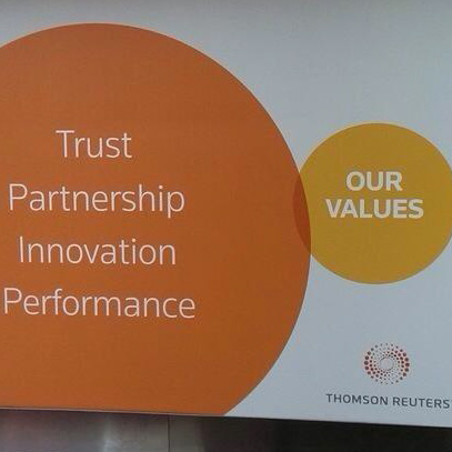 Thomson Reuters oops moment over its corporate values